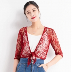 Littledesire Stylish Half Sleeve Lace Shrug