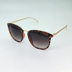 Littledesire Leopard Print Round Unisex Sunglasses