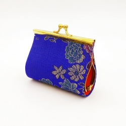 Style Floral Embroidered Mini Coin Purse 3 inch