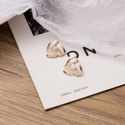 Elegant Sweet Droplet Triangle Earrings