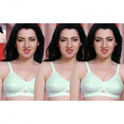 Regular Daily Wear Cotton Full Coverage Bra (Pack of 3)