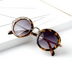 Stylish Round Retro Anti-UV400 Unisex Kids European Sunglasses