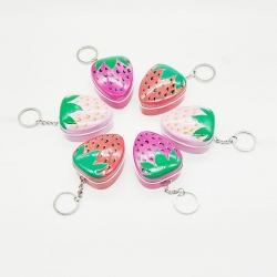 Strawberry Metal Tin Keychain Mini Box Pack Of 4