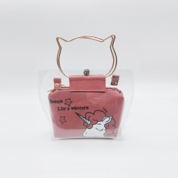 Print Unicorn Transparent Shoulder Jelly Sling Bag