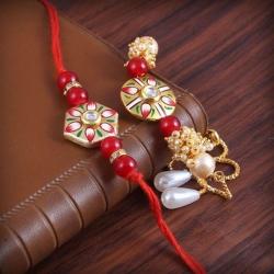 Bhaiya Bhabhi Designer Bracelet Rakhi Set