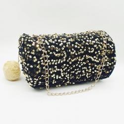 Stylish Sequins Crossbody Party Wear Barrel Bag