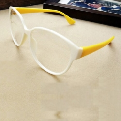 Yellow Clear Skinny Sunglasses