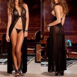 Sexy Backless Lingerie Night Babydoll Sleepwear Dress