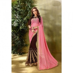Georgette Designer Embroidery Saree