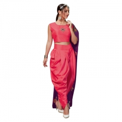 Littledesire Fancy Embroidered Crop Top With Dhoti & Shrug