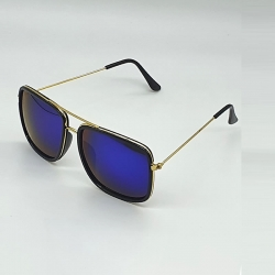 Littledesire Square Mirrored Lens Metal Frame Unisex Sunglasses