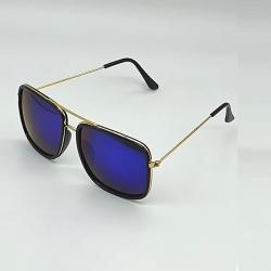 Littledesire Square Mirrored Lens Metal Frame Unisex Sunglasses