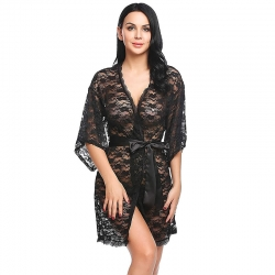 Floral Design Mesh Lace Babydoll Beautiful Sleepwear