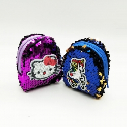 Sequins Mini Wallet With Key Ring 4 inch Pack Of 2