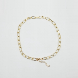 Littledesire Golden Link Choker Necklace