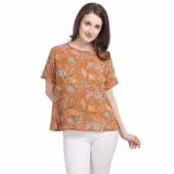 Floral Printed Loose Top With Side Yoke