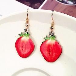 Cute Fruit Strawberry Earrings