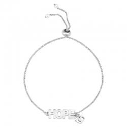 Rose Golden & Silver Plated Inspirational Word Hope Heart Bracelet