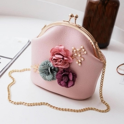 Fashion Stereo Flowers Chain Bag