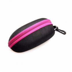 Dark Pink Zipper Sunglasses Case Cover