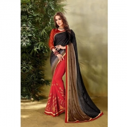 Designer Embroidered Work Georgette Saree