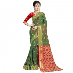 Littledesire Handloom Silk Saree With Jacquard Work