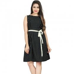 Littledesire Dot Printed Sleeveless Short Dress