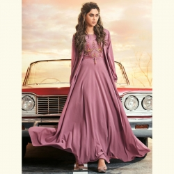 Littledesire Georgette Embroidered Work Gown