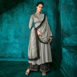 Littledesire Designer Embroidered Long Kurta With Palazzos & Dupatta