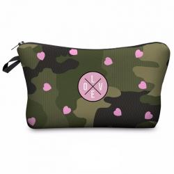 Littledesire Pink Heart Makeup Cosmetic Zipper Bag