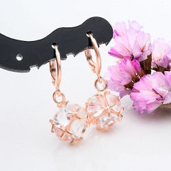 Littledesire Beautiful Ball CZ Hoop Earrings