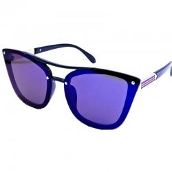 Vintage Style Flat Lens Square Frame Sunglasses
