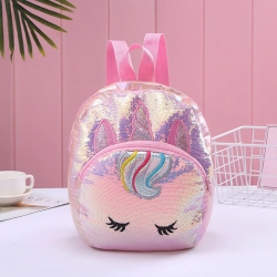 Unicorn Travel Sequins Glitter Shoulder Backpack -12 inch