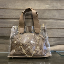 Stone Transparent Handbags & Shoulder Sling Bag