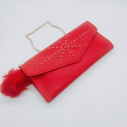 PU Leather Clutch Hasp Handbags Wallet