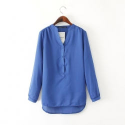 Linen Casual Blue Shirt