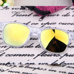 Fashion Clear Frame Unisex Sunglasses