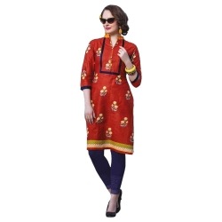 Littledesire Women Daily Wear Floral Printed Cotton Kurta