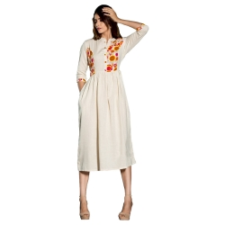 Littledesire Embroidered Designer Cotton Kurta