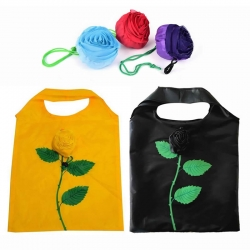 2Pcs Reusable Foldable Rose Grocery Random Color Shopping Tote Bag