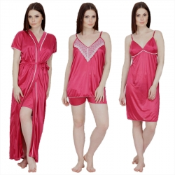 Littledesire Lace 4 pcs Nightwear with Robe Set