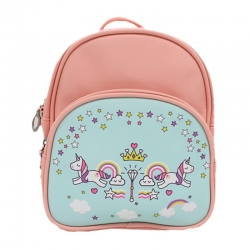 Littledesire Peach Cute Unicorn Kids Small Backpack