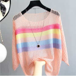 Littledesire Stripe Design Loose Thread Top