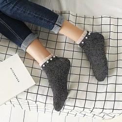 Littledesire Fashion Glitter Shining Pearl Ankle Length Socks