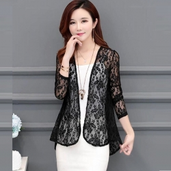 Littledesire Stylish Long Sleeve Lace Shrug