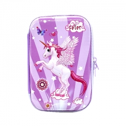 Stylish Unicorn Print Hardtop EVA Pencil Case