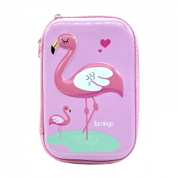 Stylish Flamingo Print Hardtop EVA Pencil Case