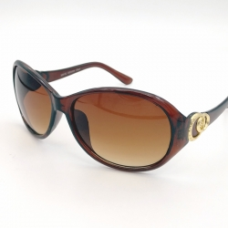 Littledesire Oval Style Women Brown Sunglasses