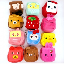 Birthday Party Return Gifts Fur Coin Mini Purse 12 Pcs Random Color