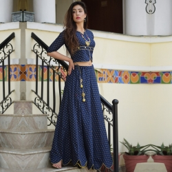 Latest  Stylish Top And  Long Skirt Set